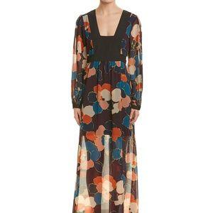 BCBGeneration Floral Maxi Dress Floral Print Long